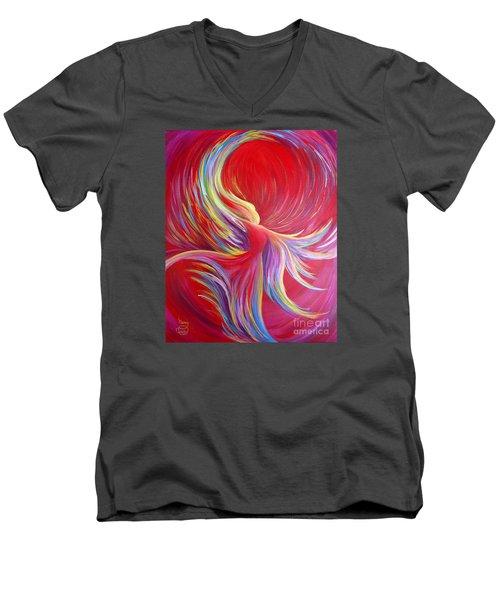 Angel Dance Men's V-Neck T-Shirt by Nancy Cupp