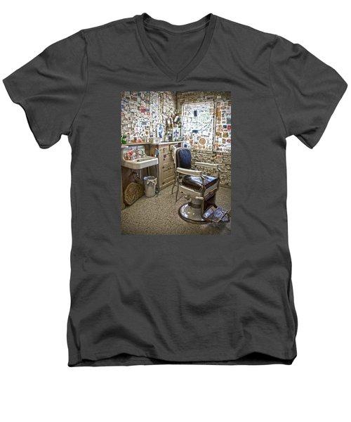 Angel Delgadillo's Barber Shop Men's V-Neck T-Shirt