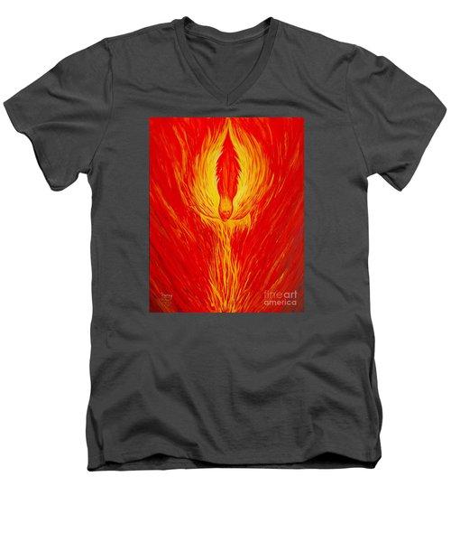 Angel Fire Men's V-Neck T-Shirt