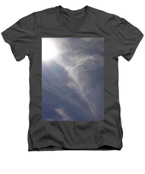Men's V-Neck T-Shirt featuring the photograph Angel Holding Light by Deborah Moen