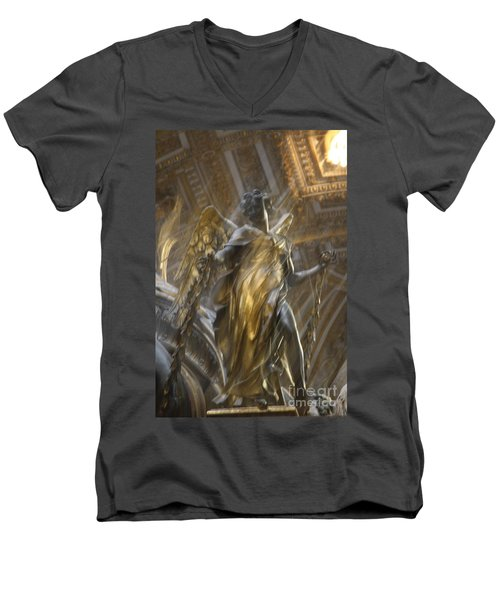 Angel In Motion Men's V-Neck T-Shirt by Mary-Lee Sanders
