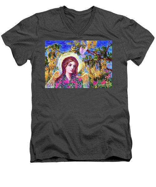 Angel Love Men's V-Neck T-Shirt