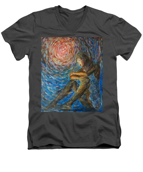 Angel Moon I Men's V-Neck T-Shirt