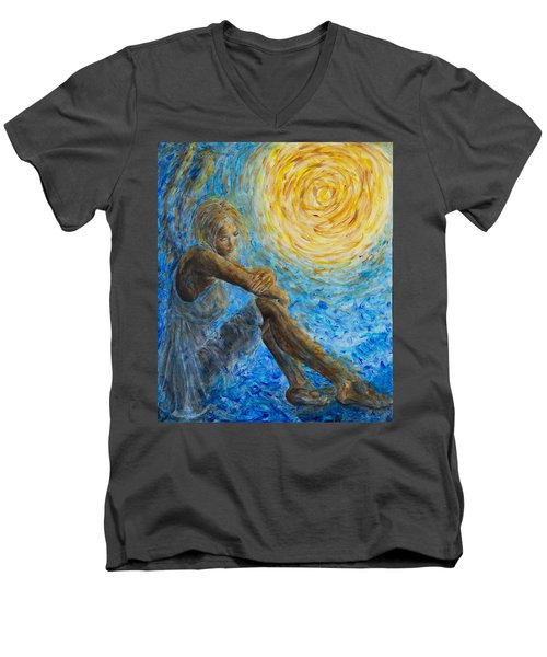 Angel Moon II Men's V-Neck T-Shirt