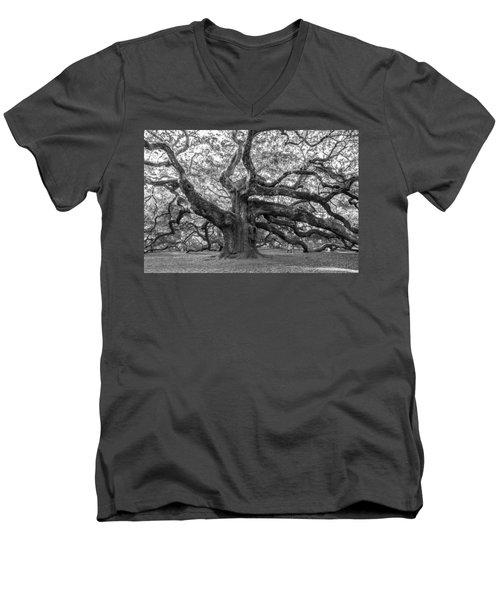 Angel Oak Tree Men's V-Neck T-Shirt