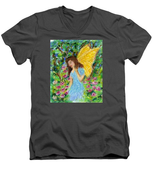 Angel Of The Garden Men's V-Neck T-Shirt