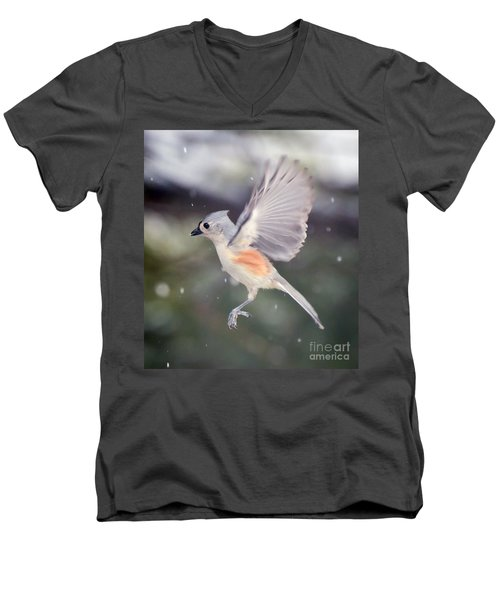 Men's V-Neck T-Shirt featuring the photograph Angel Wings by Kerri Farley