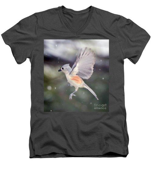 Angel Wings Men's V-Neck T-Shirt by Kerri Farley