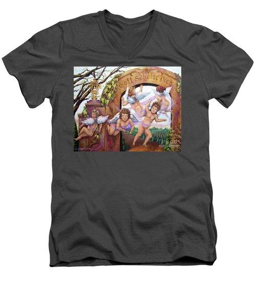 Angelika Men's V-Neck T-Shirt