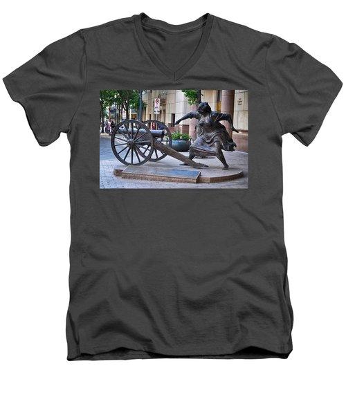 Angelina Eberly Of Austin Men's V-Neck T-Shirt