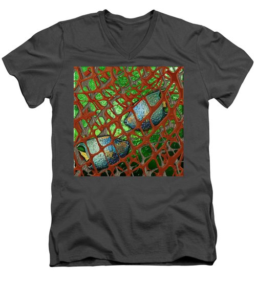 Angels Caught In An Emerald Pool Men's V-Neck T-Shirt