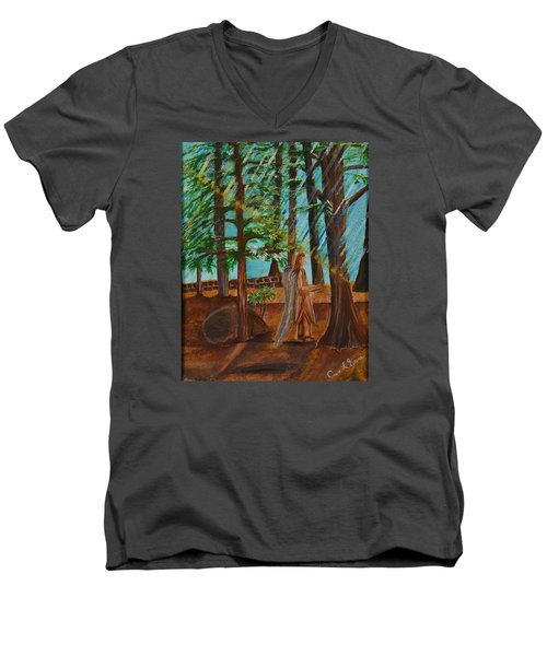 Angle In Idyllwild Men's V-Neck T-Shirt by Cassie Sears
