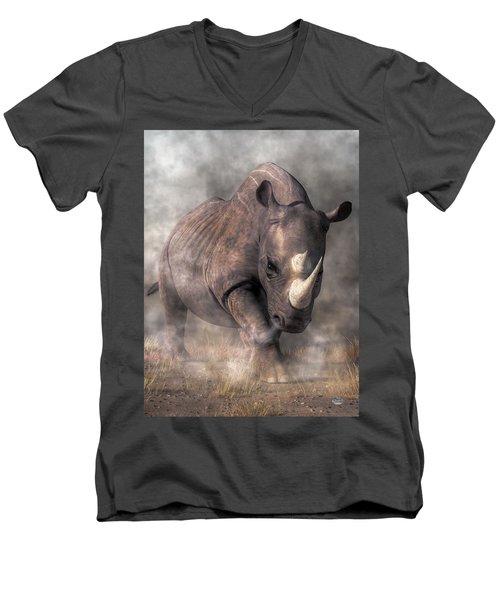 Angry Rhino Men's V-Neck T-Shirt