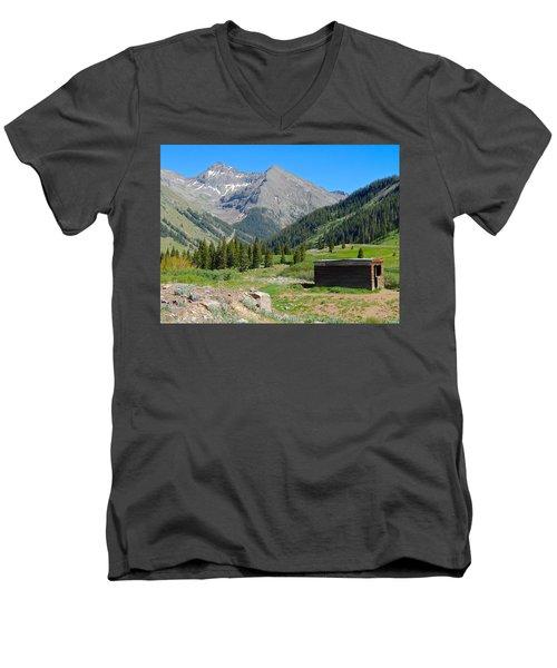 Animas Forks Jail Men's V-Neck T-Shirt