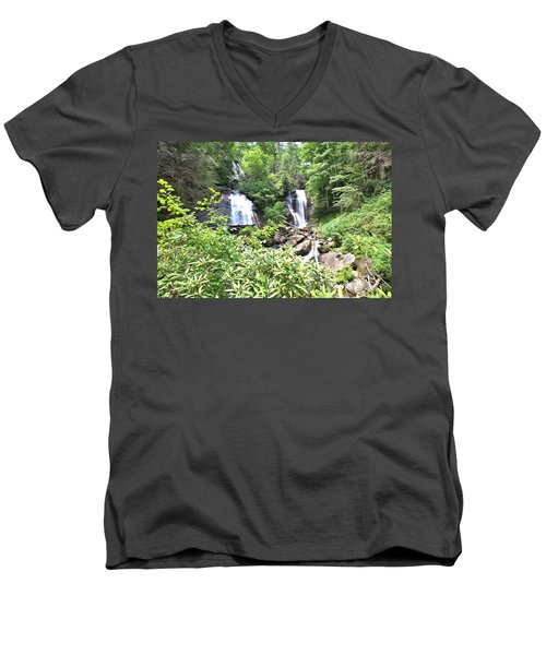 Anna Ruby Falls - Georgia - 1 Men's V-Neck T-Shirt