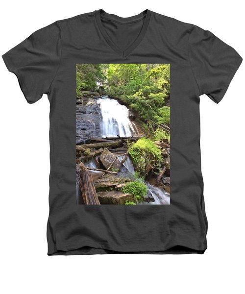 Anna Ruby Falls - Georgia - 4 Men's V-Neck T-Shirt by Gordon Elwell
