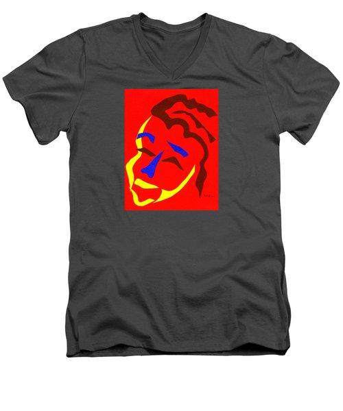 Annalyn Men's V-Neck T-Shirt by Delin Colon