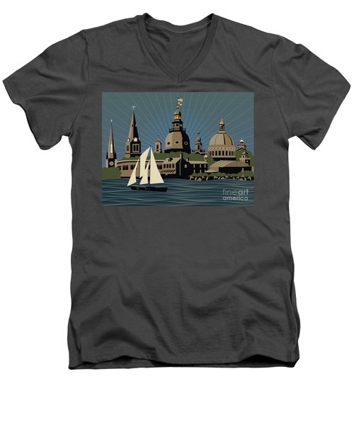 Annapolis Steeples And Cupolas Serenity Men's V-Neck T-Shirt