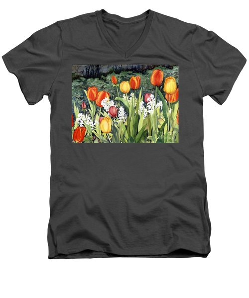Ann's Tulips Men's V-Neck T-Shirt