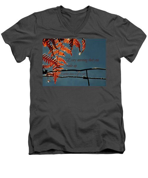 Another Chance Men's V-Neck T-Shirt by Micki Findlay