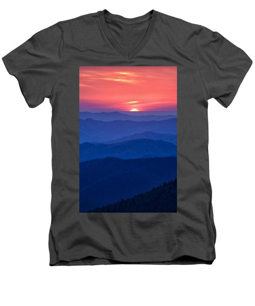 Another Day Ends Men's V-Neck T-Shirt by Andrew Soundarajan
