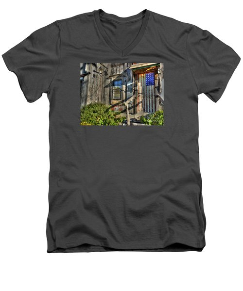 Men's V-Neck T-Shirt featuring the digital art Another Faded Glory by William Fields