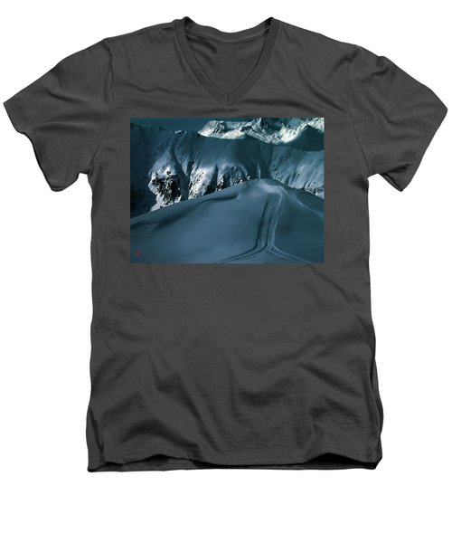 Another Late Day In The Mountains  Men's V-Neck T-Shirt