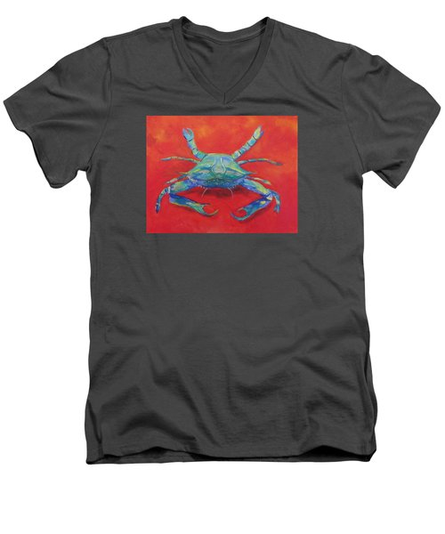 Another Red Crab Men's V-Neck T-Shirt by Anne Marie Brown