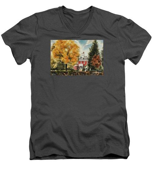 Antebellum Autumn Ironton Missouri Men's V-Neck T-Shirt by Kip DeVore