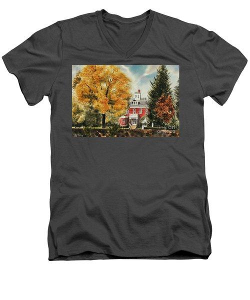 Antebellum Autumn Ironton Missouri Men's V-Neck T-Shirt