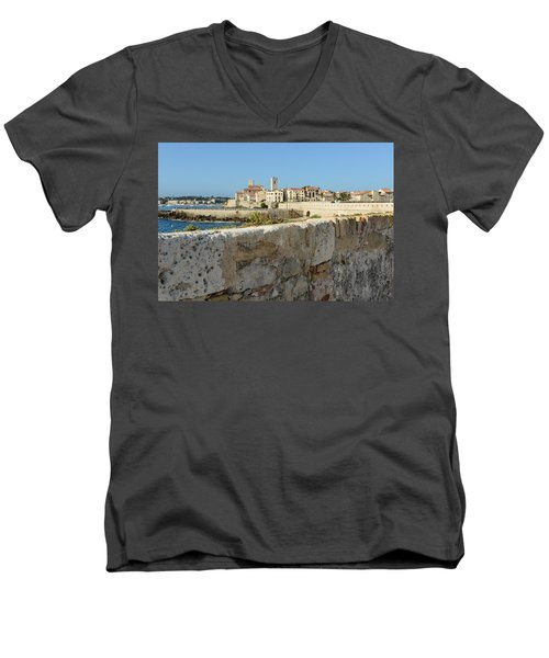Antibes France Men's V-Neck T-Shirt