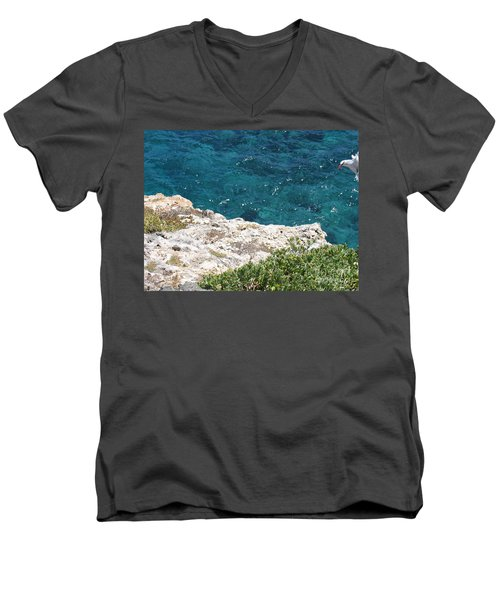 Antigua - Flight Men's V-Neck T-Shirt by HEVi FineArt