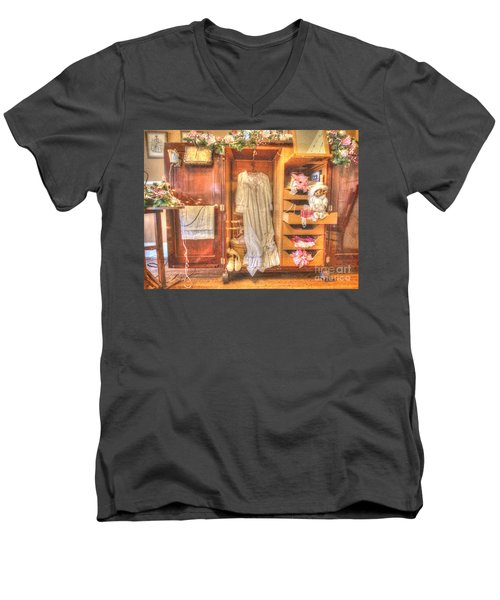 Antique Armoire Men's V-Neck T-Shirt by Liane Wright