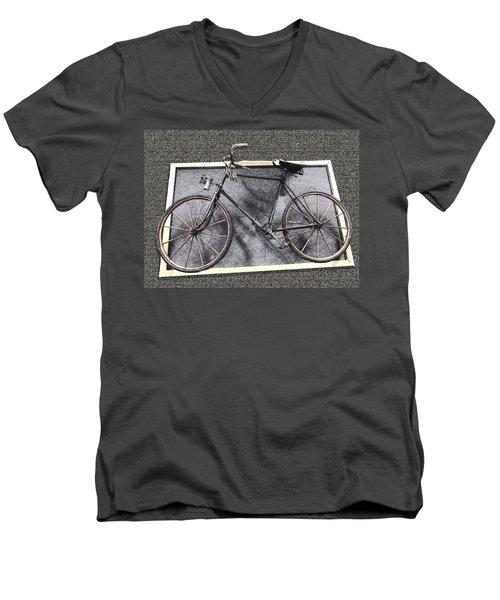 Antique Bicycle  Men's V-Neck T-Shirt by Joyce  Wasser