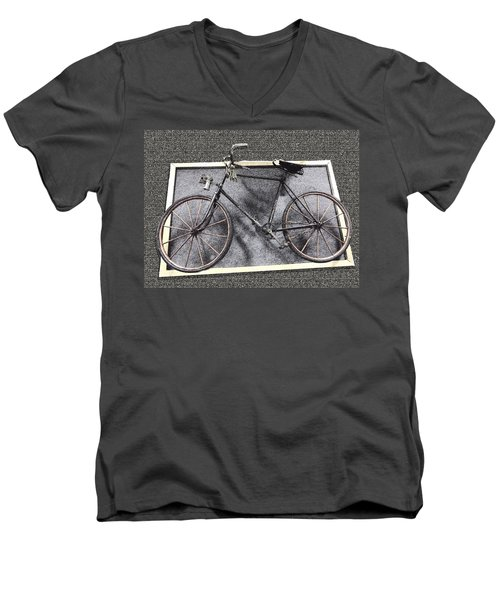 Antique Bicycle  Men's V-Neck T-Shirt
