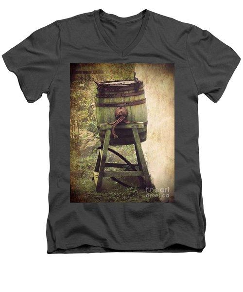 Antique Butter Churn Men's V-Neck T-Shirt by Linsey Williams