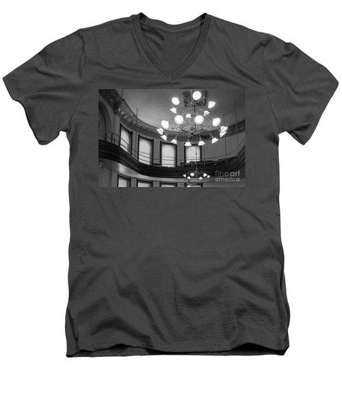 Antique Chandelier In Old Courtroom Men's V-Neck T-Shirt