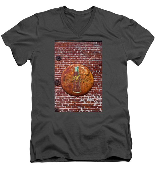 Antique Coke Sign 2 Men's V-Neck T-Shirt