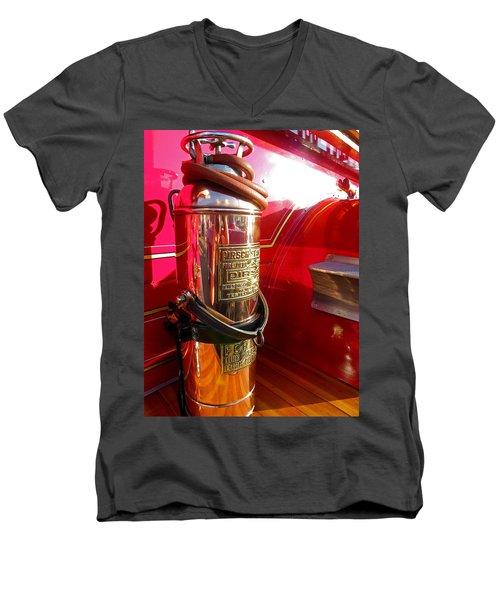 Antique Fire Extinguisher Men's V-Neck T-Shirt