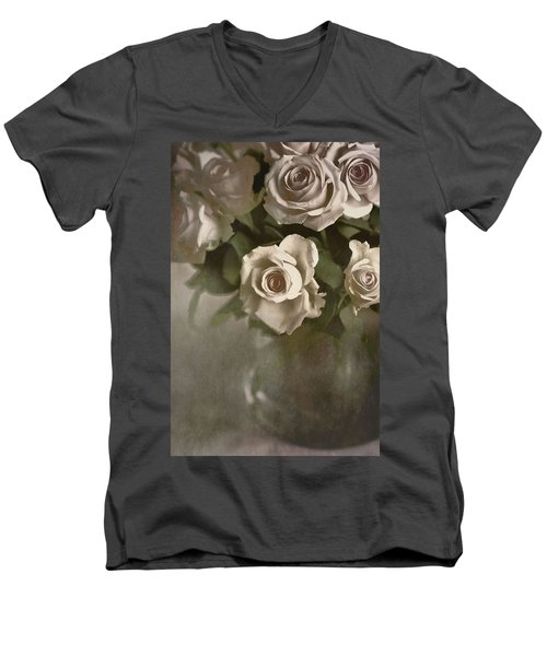 Antique Roses Men's V-Neck T-Shirt