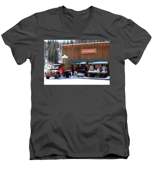 Men's V-Neck T-Shirt featuring the photograph Antiques In The Mountains by Fiona Kennard