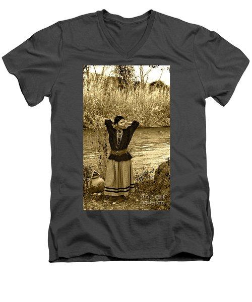 Apache River Maiden Men's V-Neck T-Shirt