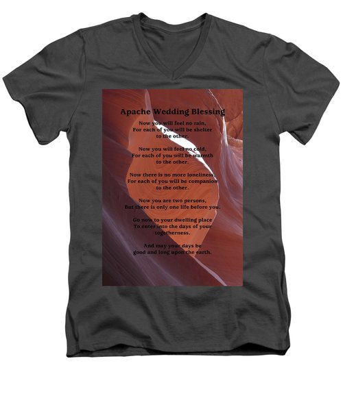 Apache Wedding Blessing On Canyon Photo Men's V-Neck T-Shirt