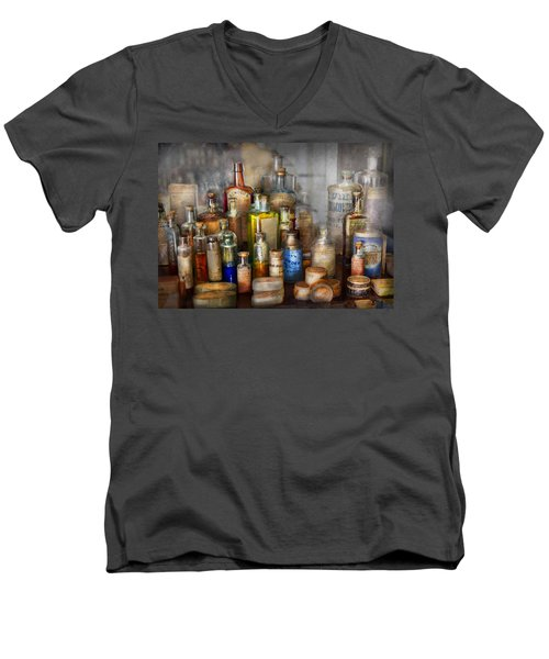 Apothecary - For All Your Aches And Pains  Men's V-Neck T-Shirt