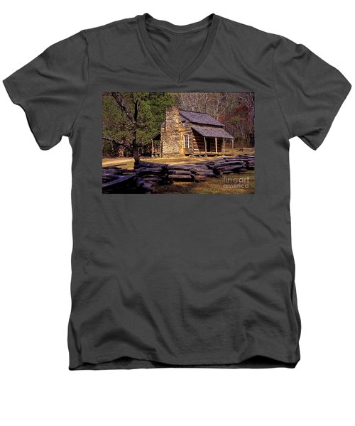 Appalachian Homestead Men's V-Neck T-Shirt by Paul W Faust -  Impressions of Light