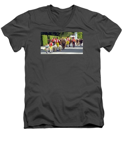Appenzell Parade Of Cows Men's V-Neck T-Shirt
