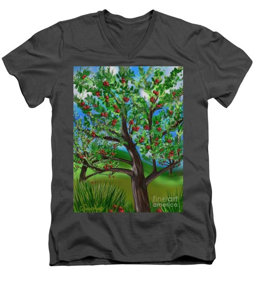Apple Acres Men's V-Neck T-Shirt