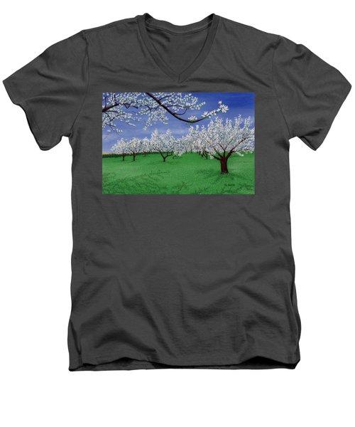Apple Blossoms Men's V-Neck T-Shirt