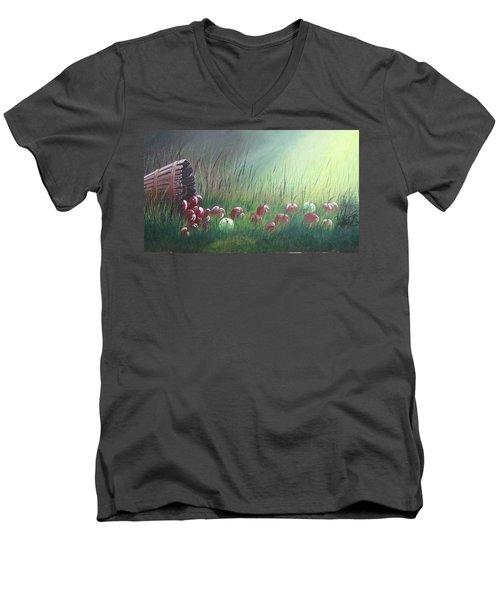 Apple Harvest Men's V-Neck T-Shirt