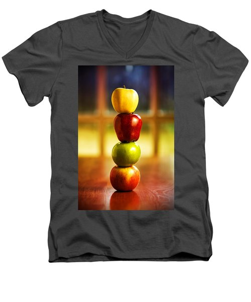 Apple Stack Men's V-Neck T-Shirt